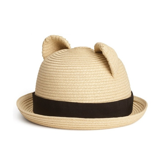 f5817d3c5e9b4 H M Other - Girls H M Bear ear straw hat.